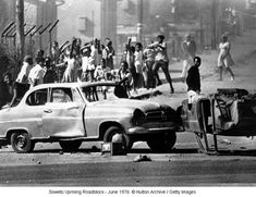 The 1976 Soweto Uprising Student Protest Was Met With Police Violence: Soweto Uprising Roadblock (June Nelson Mandela, Native American Wisdom, American History, Watts Riots, Black History Books, Youth Day, Gymnasium, Black Image, Music