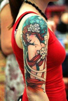 This is freakin' gorgeous! Check out other pretty tattoos here! (via The New Tattoos)