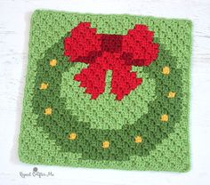 The Wreath is ready! This is square number 7 of 9 Christmas themed C2C crochet squares and when they are all finished, I will stitch them together into one large afghan! As I finish each square, I will post the graph and reveal the next character/image in the blanket. Feel free to work along with me!   If you …