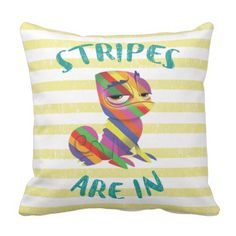 Tangled | Pascal - Stripes are In Throw Pillow.  See even more by going to the picture link
