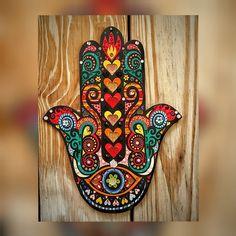 Mão de Fátima - Hamsá 38 x28cm.