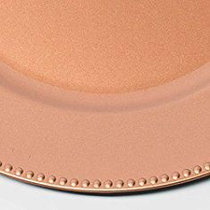 Rose Gold Charger Plate. Richland Charger Plate Round Beaded 13\  Rose Gold Set of & Disc Adhesive Plate Hanger. Flatirons Disc Adhesive Plate Hanger Set ...