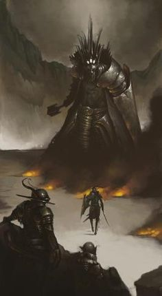 Fingolfin challenging Morgoth- from The Silmarillion Don McCauley http://www.freepublicitygroup.com/donmccauley