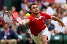 Olympics: Day Two - JULY 29: Stanislas Wawrinka of Switzerland plays a forehand during the Men's Singles Tennis match against Andy Murray of Great Britain on Day 2 of the London 2012 Olympic Games at the All England Lawn Tennis and Croquet Club in Wimbledon on July 29, 2012 in London, England. (Photo by Clive Brunskill/Getty Images)