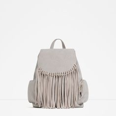 ZARA - WOMAN - FRINGED FOLDOVER FLAP BACKPACK