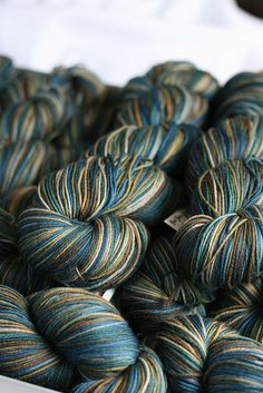 Destination Yarn's new colorway, Lake Erie. LOVE LOVE LOVE.
