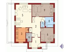 Here are three one-story two-bedroom house plans, with very different exterior designs and interior ones that express comfortable living. Beautiful House Plans, Beautiful Homes, Two Bedroom House, Cabin Plans, Interior Design Kitchen, Home Projects, Floor Plans, House Design, How To Plan