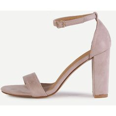 6c8202213f5 SheIn(sheinside) Pink Peep Toe Ankle Strap Sandals ( 33) ❤ liked on