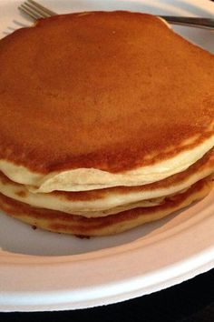 """My-Hop Pancakes   """"Great pancake recipe! I didn't change a thing! There's nothing better on a Sunday morning than the smell of a home cooked breakfast and freshly brewed coffee. """" #copycat #copycatrecipes Breakfast Cake, Breakfast Recipes, Breakfast Ideas, Morning Food, Sunday Morning, The Pancake House, Tasty Pancakes, Copycat Recipes, Baking Soda"""