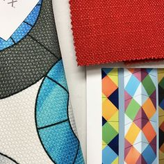 Part of our Allison Eden Pop Art Collection . Art Haus, Latest Design Trends, Mosaic Designs, Red Fabric, Bauhaus, Color Trends, Home Projects, Printing On Fabric, Color Schemes