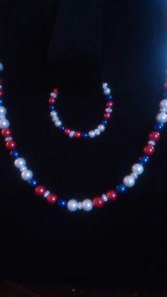 Patriotic pearl set