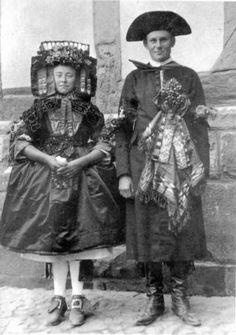 German Wedding in Hessen, 1928.