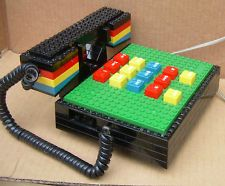way cool vintage LEGO TELEPHONE in working condition Building block phone TYCO