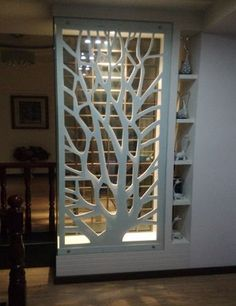 PVC wood board MDF hollow carved panels backdrop screen porch ceiling partition walls white in Continental - Haus Dekoration Living Room Partition Design, Living Room Divider, Room Partition Designs, Living Room Decor, Partition Walls, Partition Ideas, Room Partitions, Screen Design, Flur Design