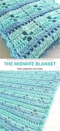 Baby Afghan Crochet, Manta Crochet, Free Crochet, Crocheted Blankets, Easy Crochet, Crochet Ideas, Crochet Projects, Knit Crochet, Crotchet Patterns