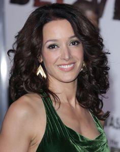 Jennifer Beals layered curly hairstyle