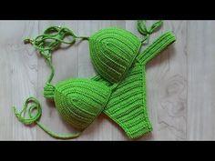 Biquíni em Crochê Greenery ( 2a parte - Calcinha ) - YouTube