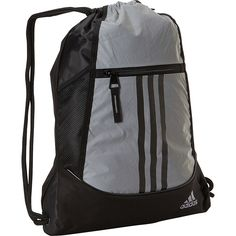 8ac20a934 adidas Alliance II Sackpack (€16) ❤ liked on Polyvore featuring bags,  backpacks, metalic, school & day hiking backpacks, day pack backpack,  pocket bag, ...