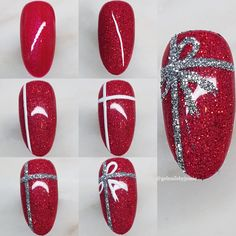 Here is a tutorial for an interesting Christmas nail art Silver glitter on a white background – a very elegant idea to welcome Christmas with style Decoration in a light garland for your Christmas nails Materials and tools needed: base… Continue Reading → Diy Christmas Nail Art, Christmas Nail Art Designs, Christmas Makeup, Christmas Tree, Xmas Nail Art, Xmas Nails, Holiday Nails, Halloween Nails, Clean Nails