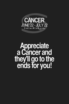 Cancer Zodiac Sign...true