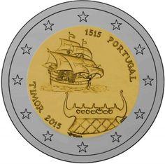 """Moneta Celebrativa """"500° anniv. primi contatti con Timor"""" Anno: 2015 Stato: Portogallo"""