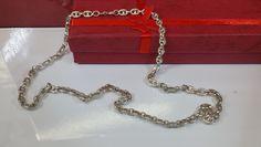 Vintage Halsschmuck - Kette Silber 925 Gliederkette Bohnenkette HK102 - ein Designerstück von Atelier-Regina bei DaWanda