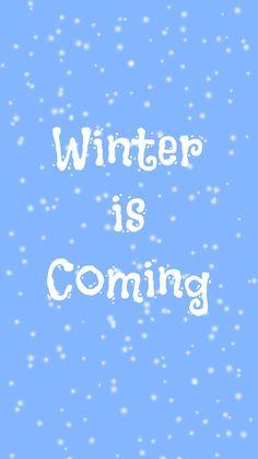 Preppy Original ★ Winter is Coming iPhone Wallpaper Quote