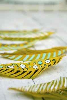 - FotoDesign Shelly -: DIY: Painted leaves