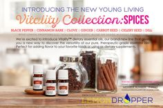 Young Living Essential Oils:   Vitality Collection Spices