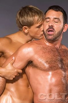 Tom Chase and Brad Patton Men Kissing, Good Genes, Hot Couples, Lets Do It, Hairy Men, Muscle Men, Sexy Men, Hot Guys, Toms