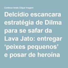Delcídio escancara estratégia de Dilma para se safar da Lava Jato: entregar 'peixes pequenos' e posar de heroína – Continue lendo Clique Imagem