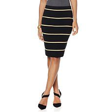 Wendy Williams Striped Pencil Skirt
