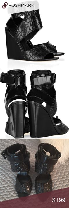 Alexander Wang Natalia Wedge Sandals! These wedge sandals from Alexander Wang are a complete showstopper! They have been worn only a handful of times and are in good condition! They are a size 41 which fits a size 9.5-10 US. Alexander Wang Shoes Wedges