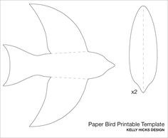 DIY PAPER BIRD MOBILE template plus a free printable. I love this!   ☀CQ #paper #printables #templates #crafts #DIY