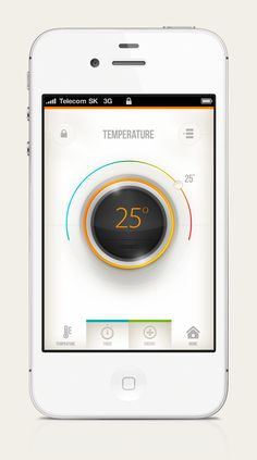 SMART Home by WEZEO - via Behance - Temperature - Interface - Application