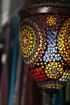 Stained Glass Mosaic Lamp (Old City, Jerusalem) by The Blond Dutch Girl