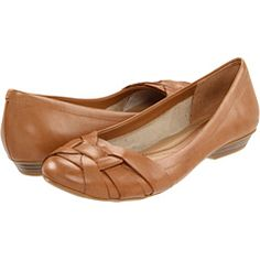These casual Naturalizer flats look a lot hipper on (I hope!). Very comfy in a truly versatile, natural brown. The finish looks a bit weathered, not pristine like the photo -- which I love.