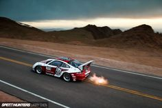 911 Turbo GT3. Jeff Zwart. Pike´s Peak 2014. Larry Chen Photo.
