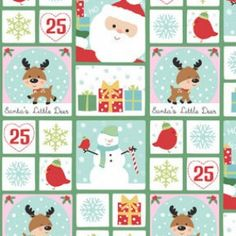 Benartex - Santas Little Deer Patchwork