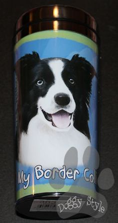 Border Collie Stainless Steel Travel Tumbler http://doggystylegifts.com/collections/stainless-steel-dog-breed-tumblers/products/border-collie-stainless-steel-travel-tumbler