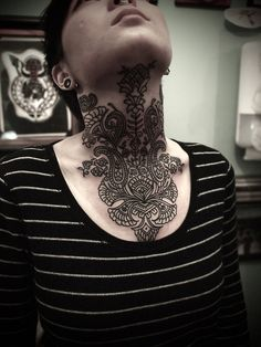 Awesome place to put this mandala tattoo. #tattoo #tattoos #ink