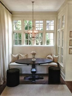 Dining nook. Settee, ottoman combo...                                                                                                                                                                                 More