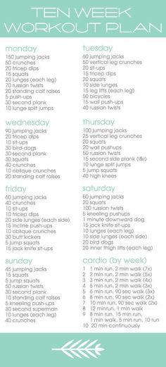 Twitter / BeFitMotivation: 10 week workout plan. ...