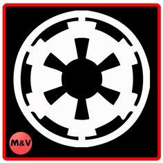 Star Wars Galactic Empire laptop, xbox, ps4, sticker X2, Yoda, Darth