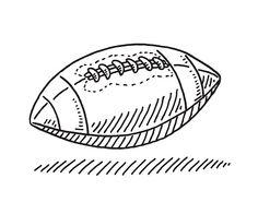 American Football Symbol Drawing