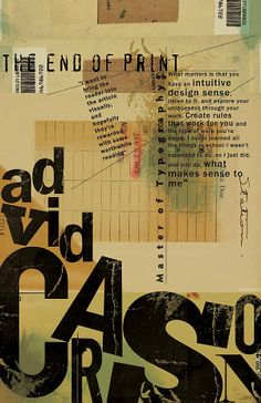 D.Carson Graphic Design Posters, Graphic Design Typography, Graphic Design Illustration, David Carson Design, Type Posters, Creative Typography, Typographic Poster, Poster Design Inspiration, Article Design