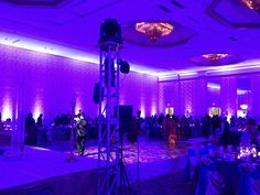 Austin Texas Event, Room Wash, Uplighting Pattern Projection Lighting, Floral Pinspotting, Interactive Lighting, Centerpiece Lighting,Intelligent Lighting Design, ILD Lighting.