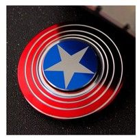 Wish | Hand Tri-Spinner Fidget Finger Toy Captain Shield Model ADHD Game (Color: Multicolor)