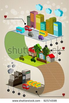 stock-vector-set-of-city-social-infographics-city-of-info-graphics-graphics-92574598.jpg (316×470) Another way to show layers or dimensions.