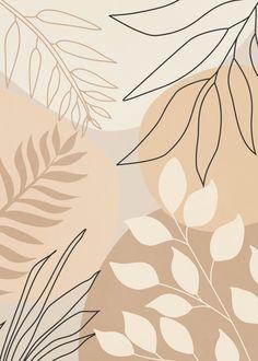 Quadro Decorativo - COMPOSITION OF LEAVES